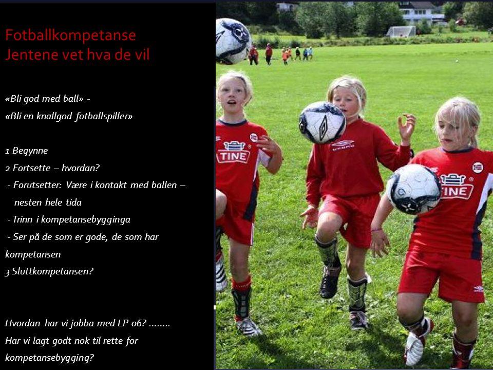 «Bli god med ball» - «Bli en knallgod fotballspiller» 1 Begynne 2 Fortsette – hvordan? - Forutsetter: Være i kontakt med ballen – nesten hele tida - T