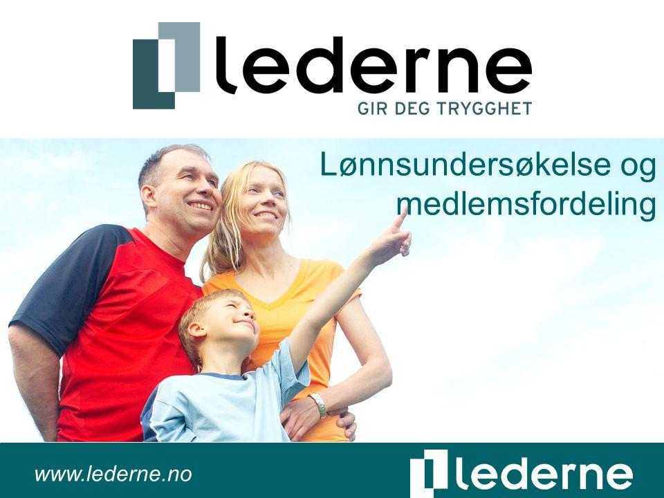 www.lederne.no Lønnsundersøkelse og medlemsfordeling
