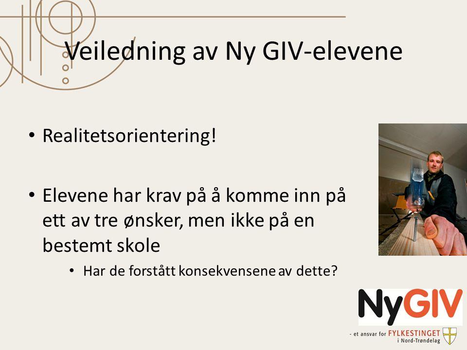 Veiledning av Ny GIV-elevene • Realitetsorientering.