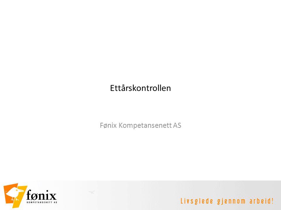 Ettårskontrollen Fønix Kompetansenett AS