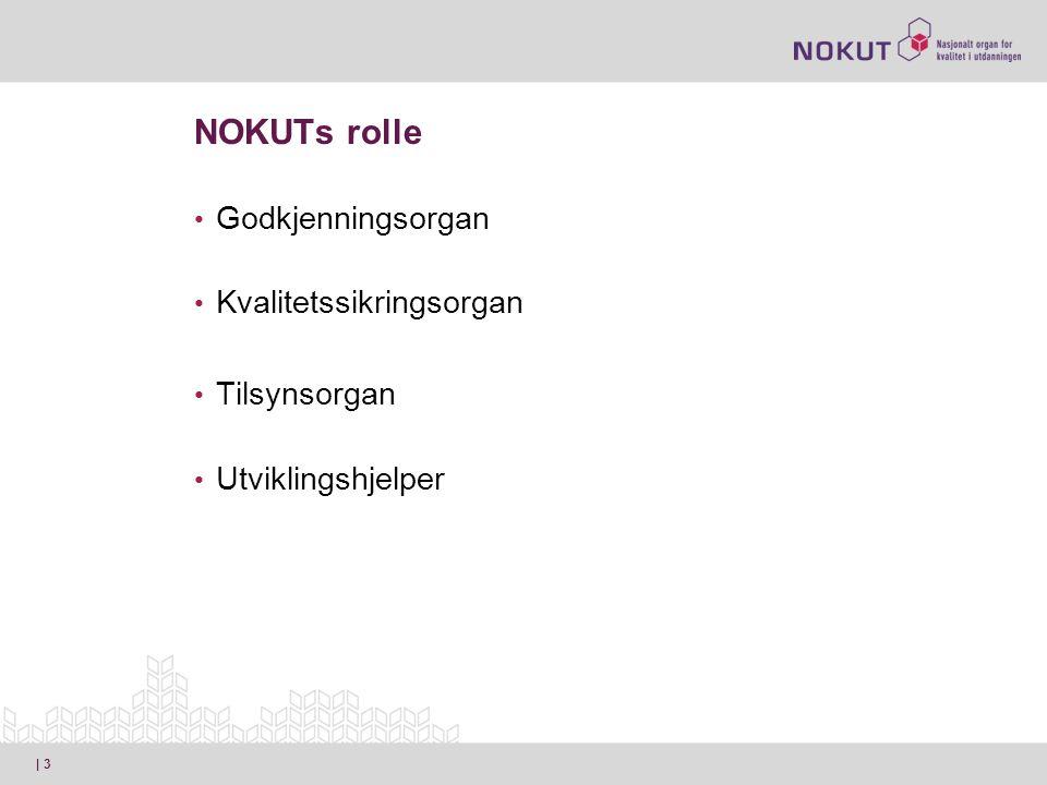 NOKUTs rolle • Godkjenningsorgan • Kvalitetssikringsorgan • Tilsynsorgan • Utviklingshjelper | 3