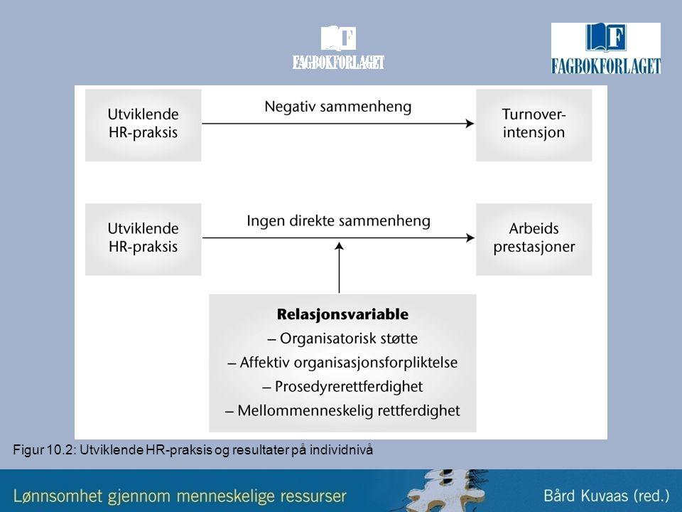 Figur 10.2: Utviklende HR-praksis og resultater på individnivå