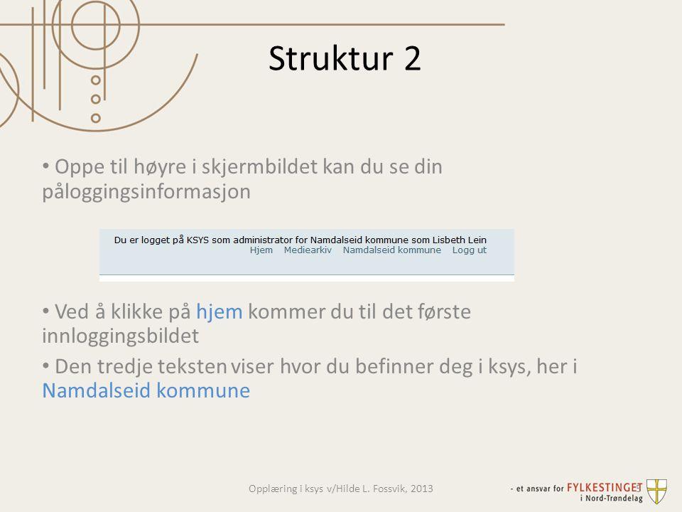 Navigasjon • Ksys har to typer visninger: • Institusjon (nasjonal oversikt – fylke – kommune – skole) • Verktøylinjer for institusjonen, dvs.