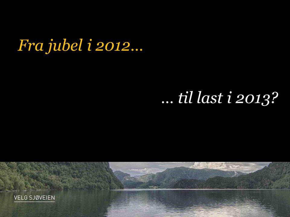 Fra jubel i 2012… … til last i 2013