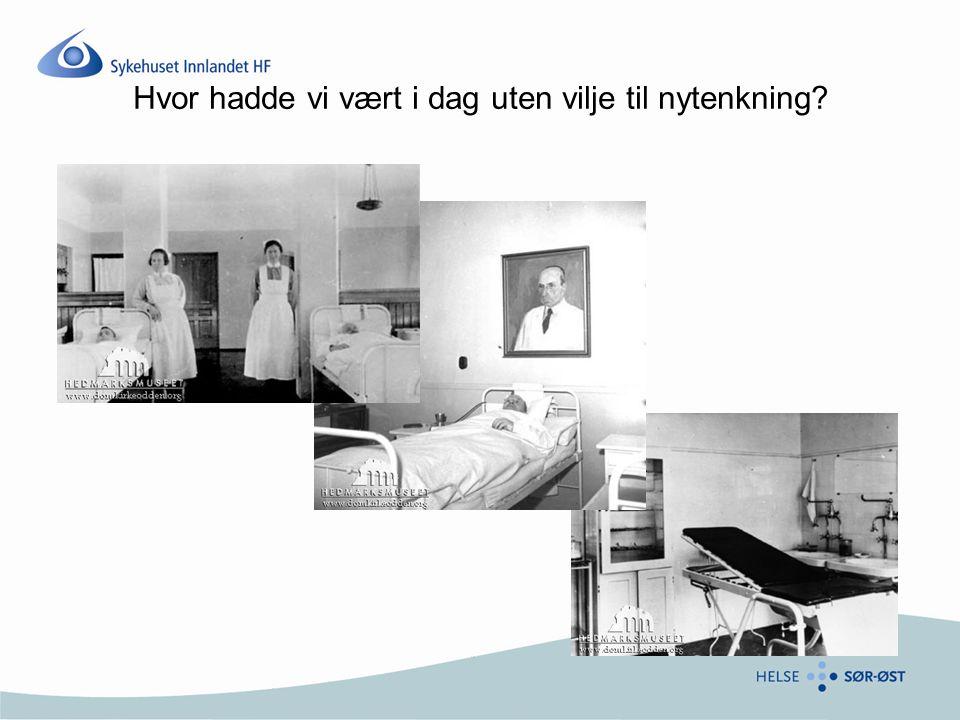 Visjon Sykehuset Innlandet skal gi gode og likeverdige helsetjenester til alle som trenger det, når de trenger det, uavhengig av alder, bosted, etnisk tilhørighet, kjønn og økonomi.
