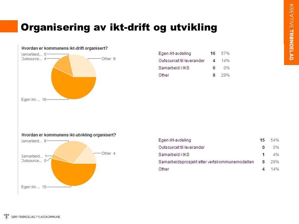 Organisering av ikt-drift og utvikling