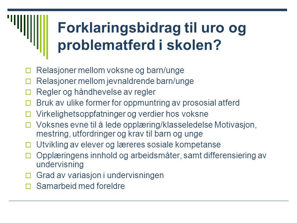 Resultater – skolefaglige prestasjoner  Elevenes i prosjektskolene presterer bedre i sentrale skolefag:  Norsk (ES = 0,26)  Matematikk (ES = 0,31)  Engelsk (ES = 0,41)  Natur- og miljøfag (ES = 0,55)
