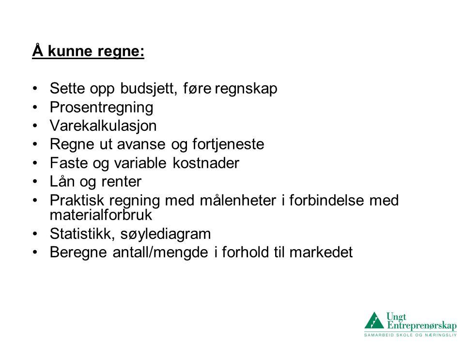 Et praktisk eksempel fra Rakkestad ungdomsskole.Elevbedrift i Programfag til valg.