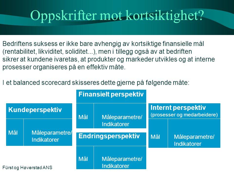 Oppskrifter mot kortsiktighet? Bedriftens suksess er ikke bare avhengig av kortsiktige finansielle mål (rentabilitet, likviditet, soliditet...), men i