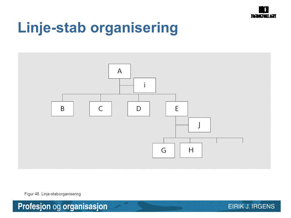 Figur 48. Linje-staborganisering Linje-stab organisering