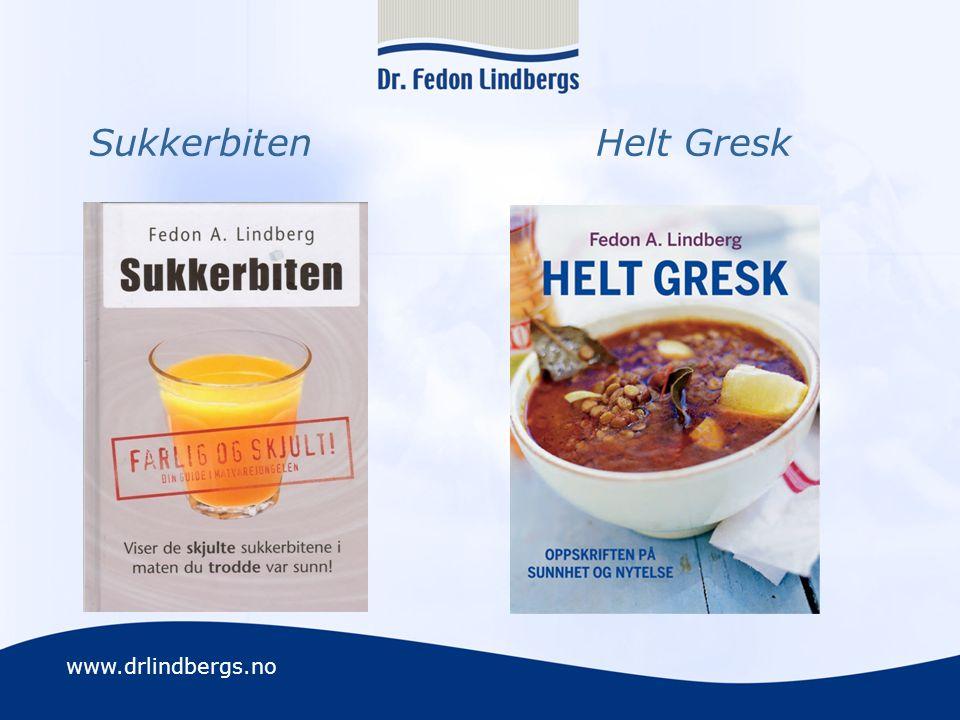 www.drlindbergs.no Sukkerbiten Helt Gresk