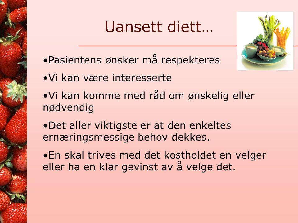 """Forskjellig teoretisk """"innpakning"""" Teori A Teori B Teori C Teori D Det som i praksis ligger på tallerkenen, veldig likt fra diett til diett"""