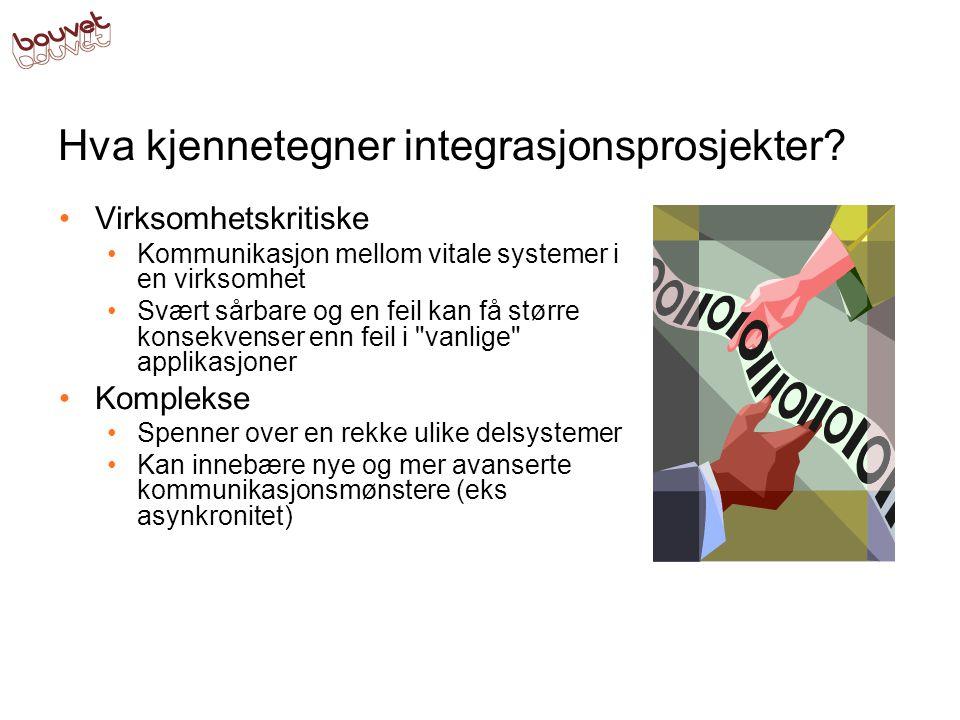 Hva kjennetegner integrasjonsprosjekter.
