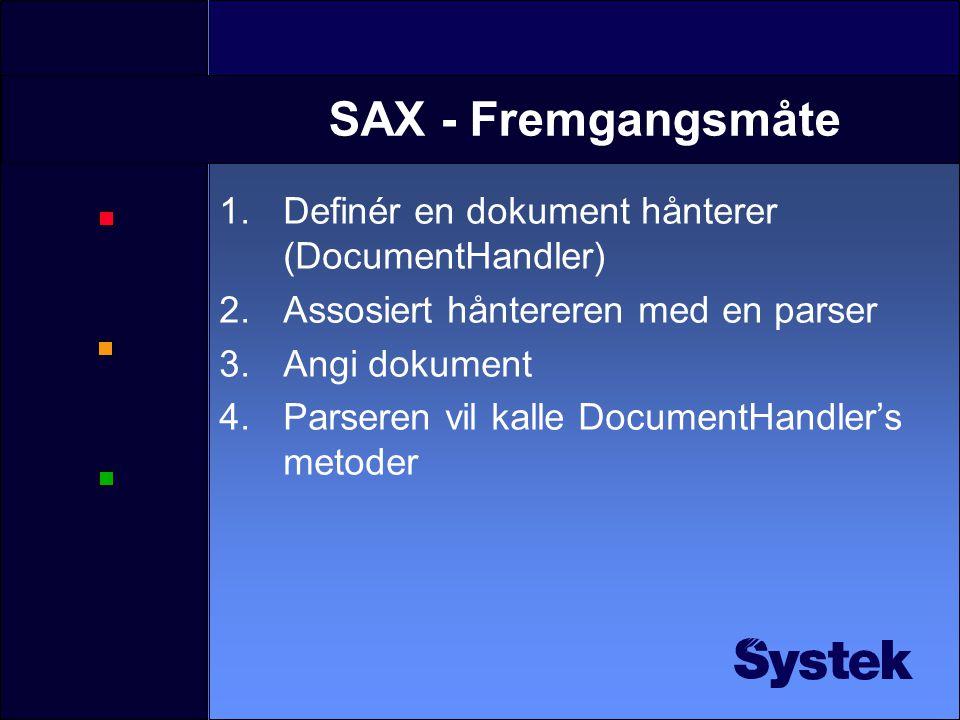Demo: Konstruere et JTree fra et XML dokument