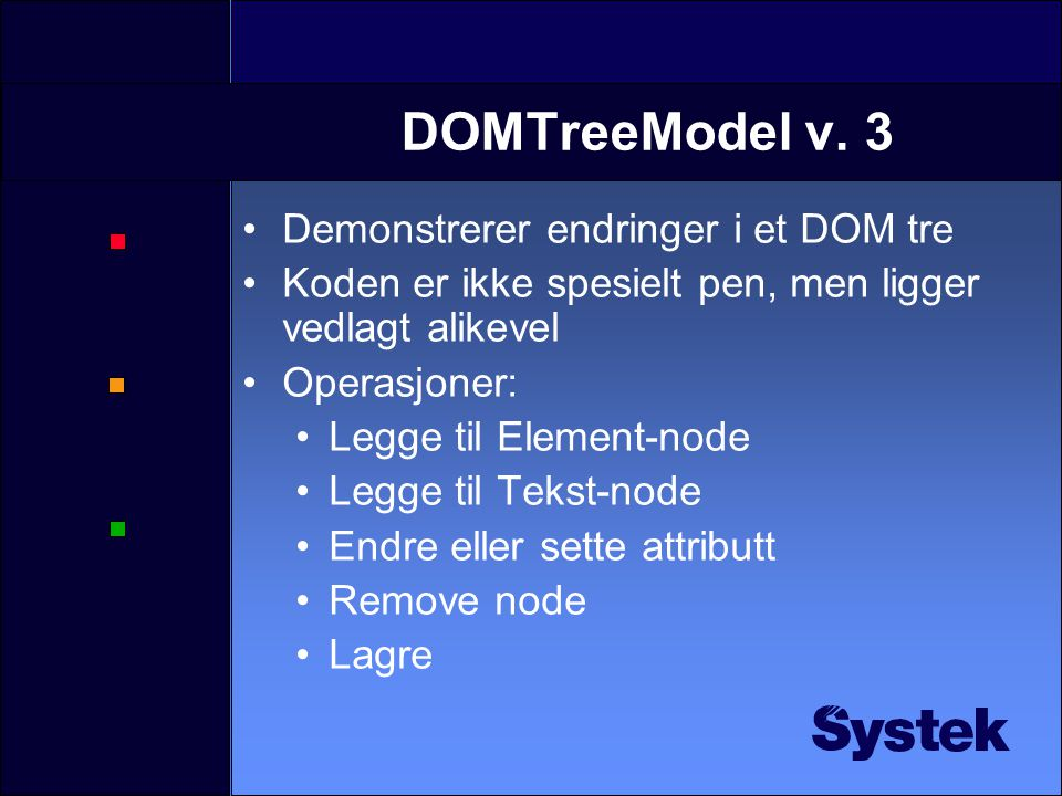 DOMTreeModel v.