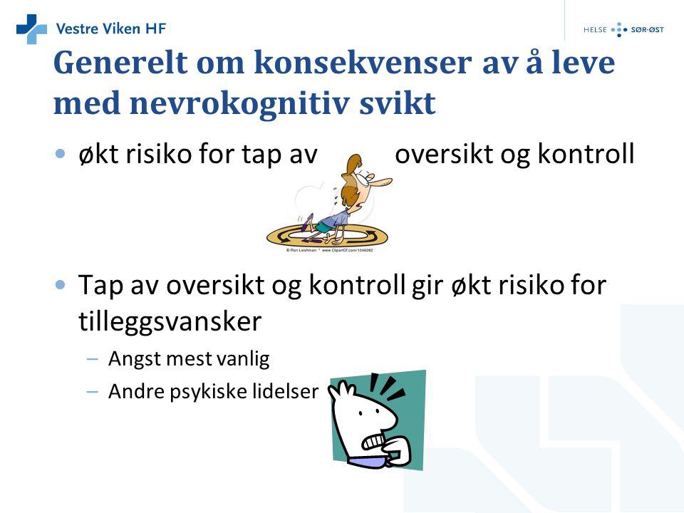 Lavt og varierende funksjonsnivå Høye og konstante krav Kognitiv overload Redusert funksjonsnivå + økt sjanse for psykisk lidelse