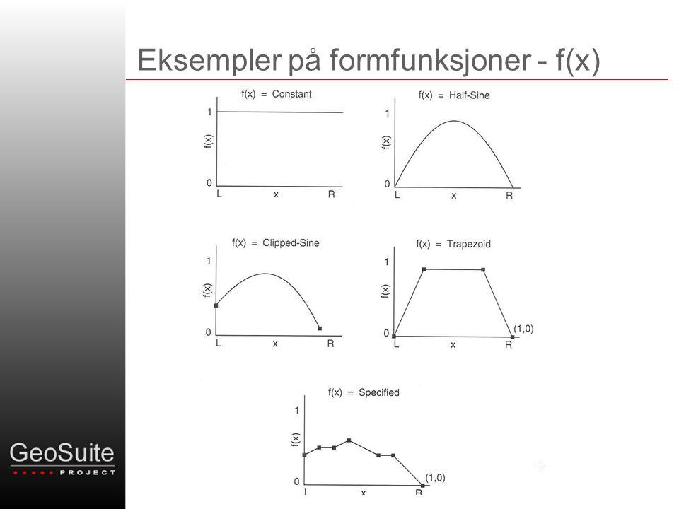 Eksempler på formfunksjoner - f(x)