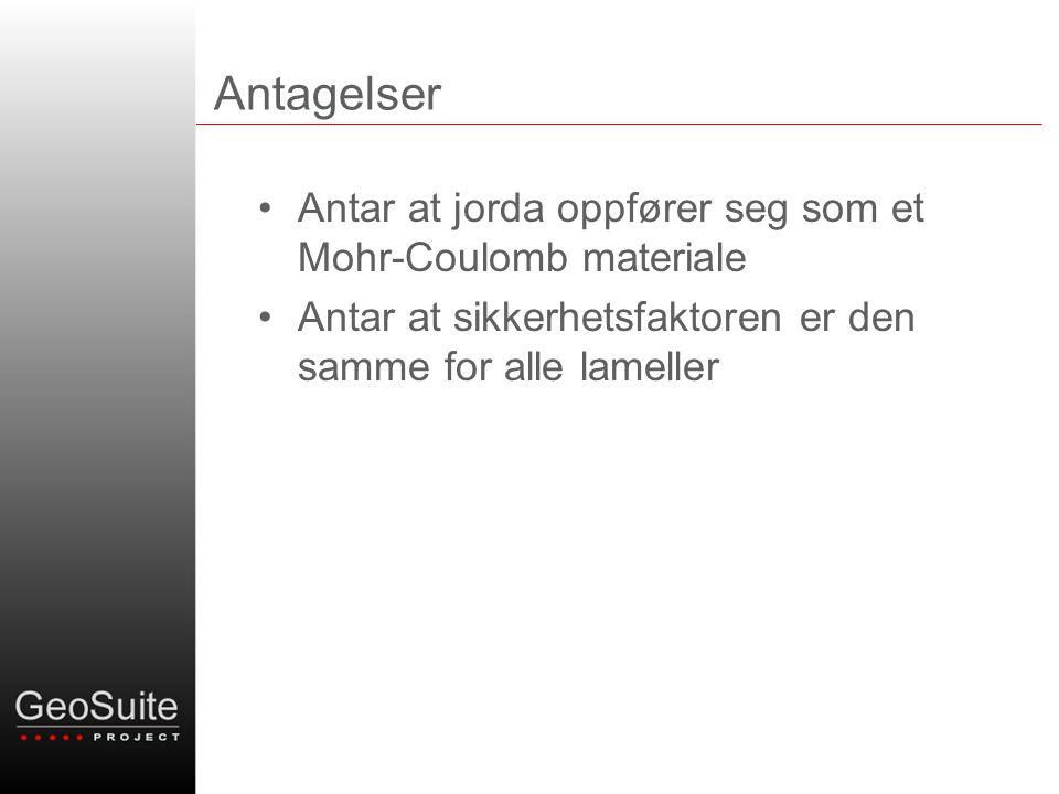 Prosjektinformasjon - Prioritet 4 •Stedfestelse av kritisk glideflate (40) Sum kr 20.000,-