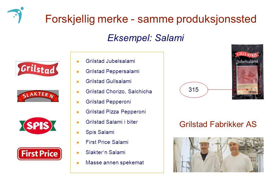 l Grilstad Jubelsalami l Grilstad Peppersalami l Grilstad Gullsalami l Grilstad Chorizo, Salchicha l Grilstad Pepperoni l Grilstad Pizza Pepperoni l G