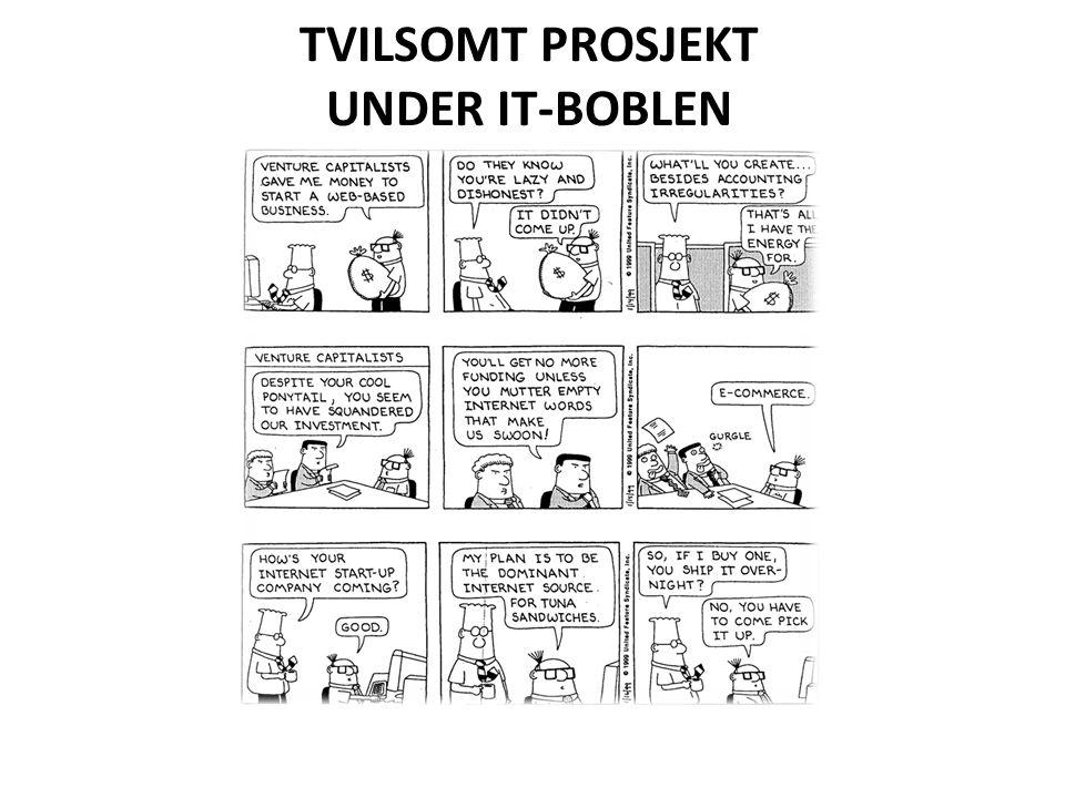 TVILSOMT PROSJEKT UNDER IT-BOBLEN