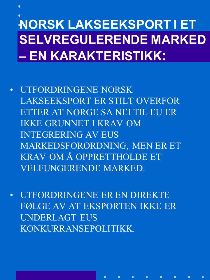 EØS AVTALEN - DER NORSK FRIHANDELSIDEOLOGI MØTER EU'S PROTEKSJONISME RAMMEBETINGELSENE FOR HANDELEN MED FISK OG FISKEPRODUKTER TIL EU ER KOMPLISERT, OG DE ER NEDFELT I MANGE FORSKJELLIGE AVTALER OG REGULERINGER.