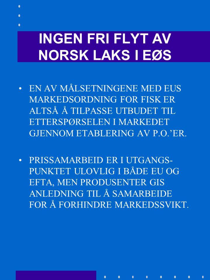 EU's ANTIDUMPING- OG SUBSIDIEVÅPEN •ANTIDUMPINGTILTAK MOT DEN NORSKE OPPDRETTSNÆRINGEN HAR REPRESENTERT EN STOR BELASTNING FOR NÆRINGEN HELT SIDEN 1989 OG FREM TIL I DAG.