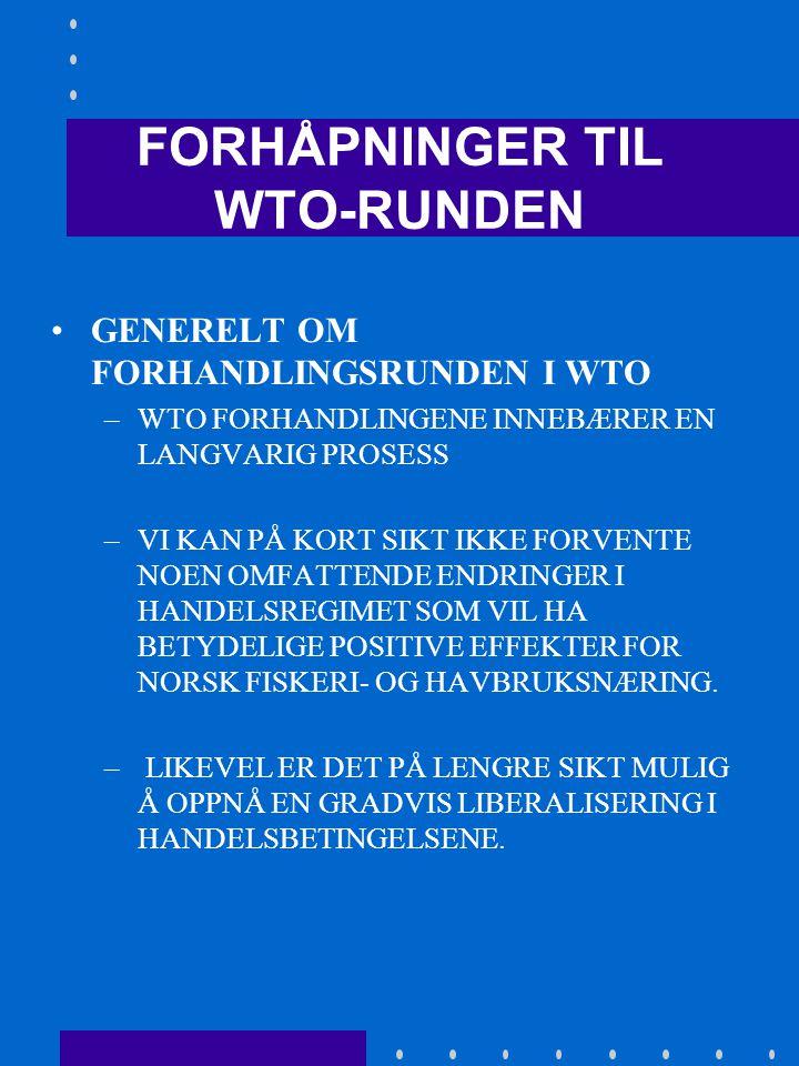 KONKLUSJON: • VI BEHANDLES I UTGANGSPUNKTET UT FRA EU'S TREDJELANDSFORORDNINGER • DET HETER I EØS-AVTALEN AT PARTENE I STEDET FOR STRAFFETOLL OG UTJEVNINGS- AVGIFTER SKAL SØKE Å FINNE MINNELIGE LØSNINGER I FORM AV EN AVTALE (F.EKS.