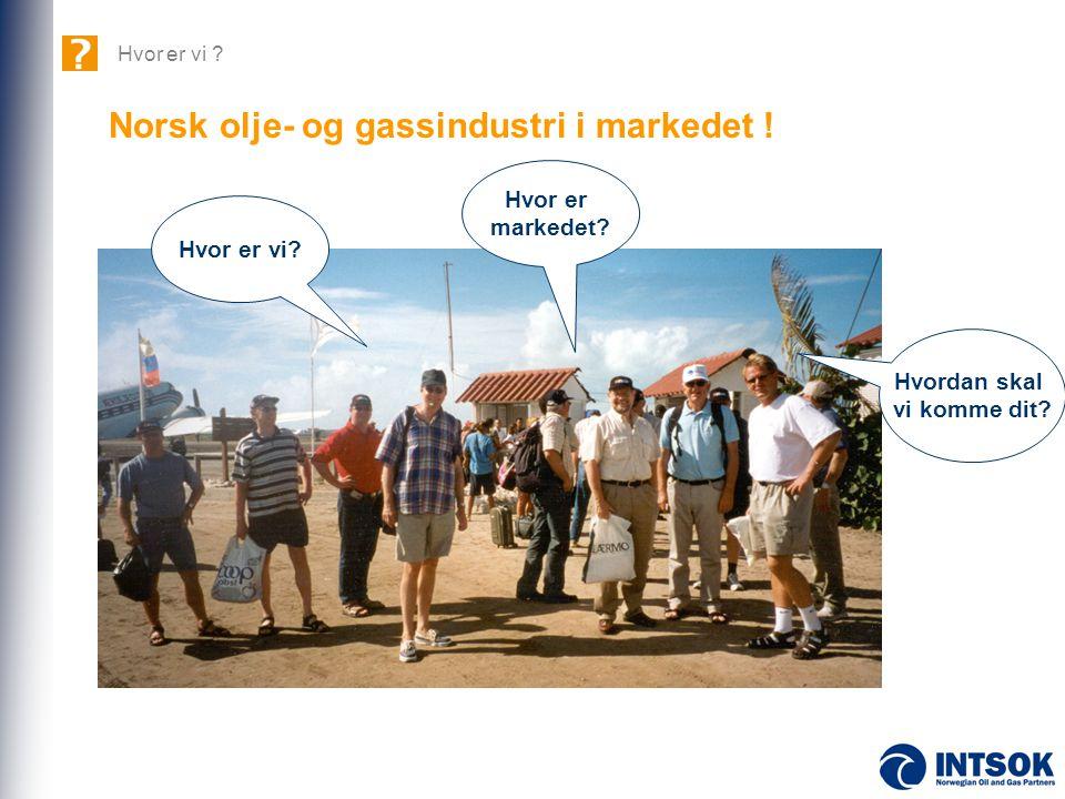 Hvor er markedet? Hvordan skal vi komme dit? Hvor er vi? Norsk olje- og gassindustri i markedet !