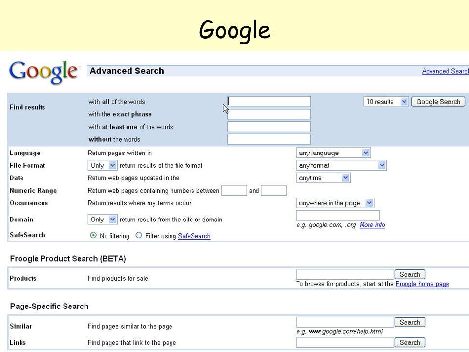 Even Flood: Informasjonssøking, Elverum 28/4/2005 55 Google