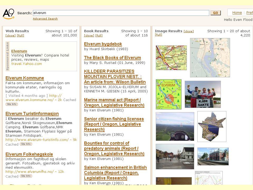 Even Flood: Informasjonssøking, Elverum 28/4/2005 80 A9