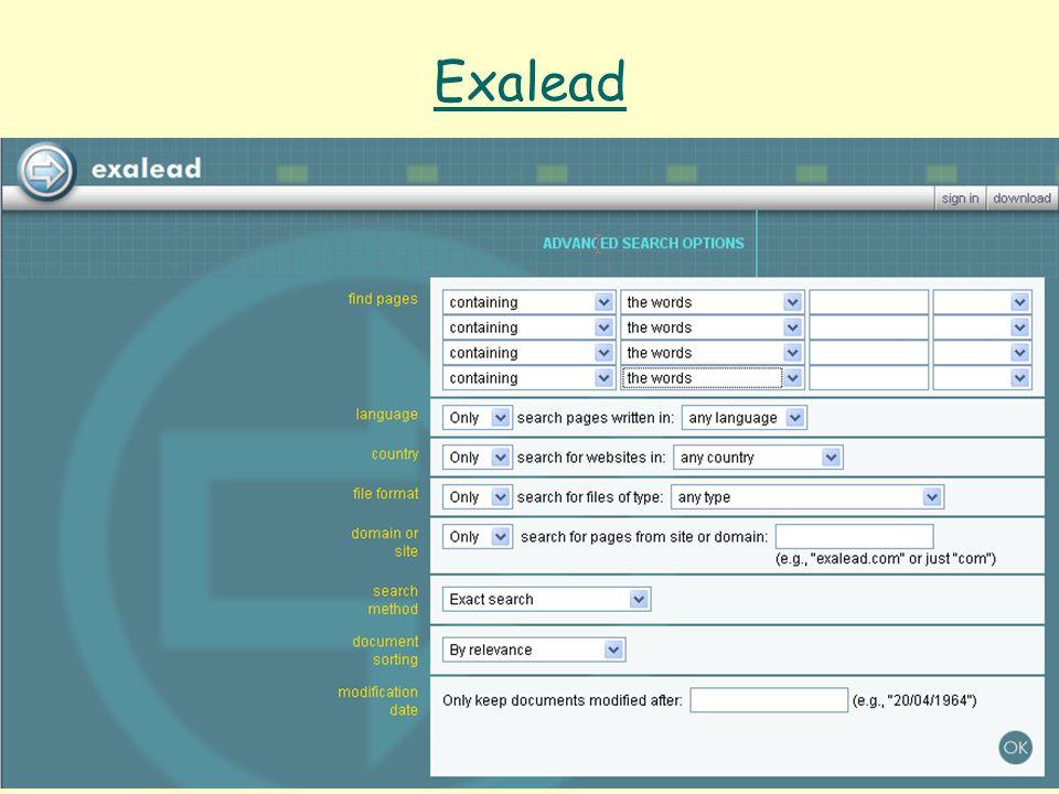 Even Flood: Informasjonssøking, Elverum 28/4/2005 95 Exalead