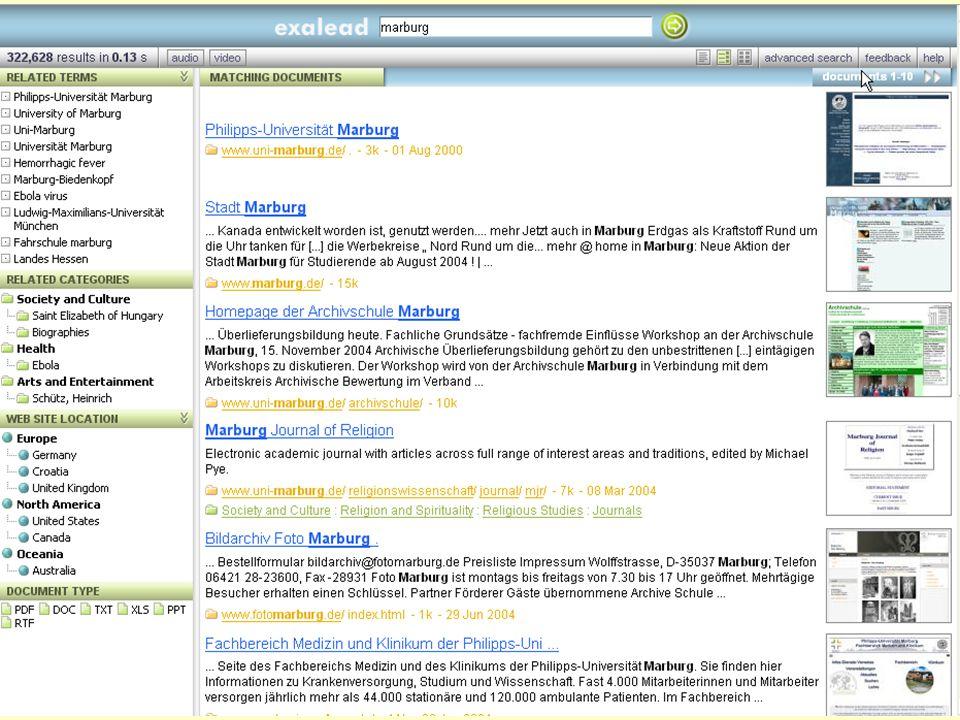 Even Flood: Informasjonssøking, Elverum 28/4/2005 96 Exalead