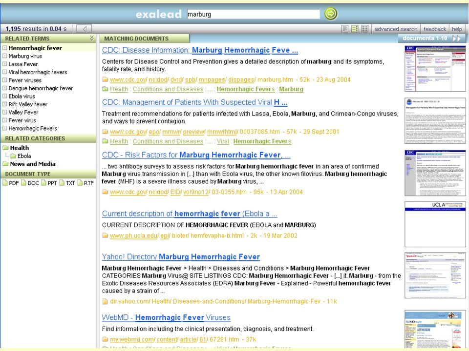 Even Flood: Informasjonssøking, Elverum 28/4/2005 97 Exalead