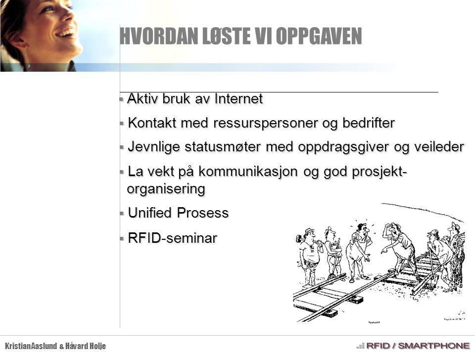 RFID-TEKNOLOGIEN Kristian Aaslund & Håvard Holje  Radio Frequency IDentification HVA ER RFID.