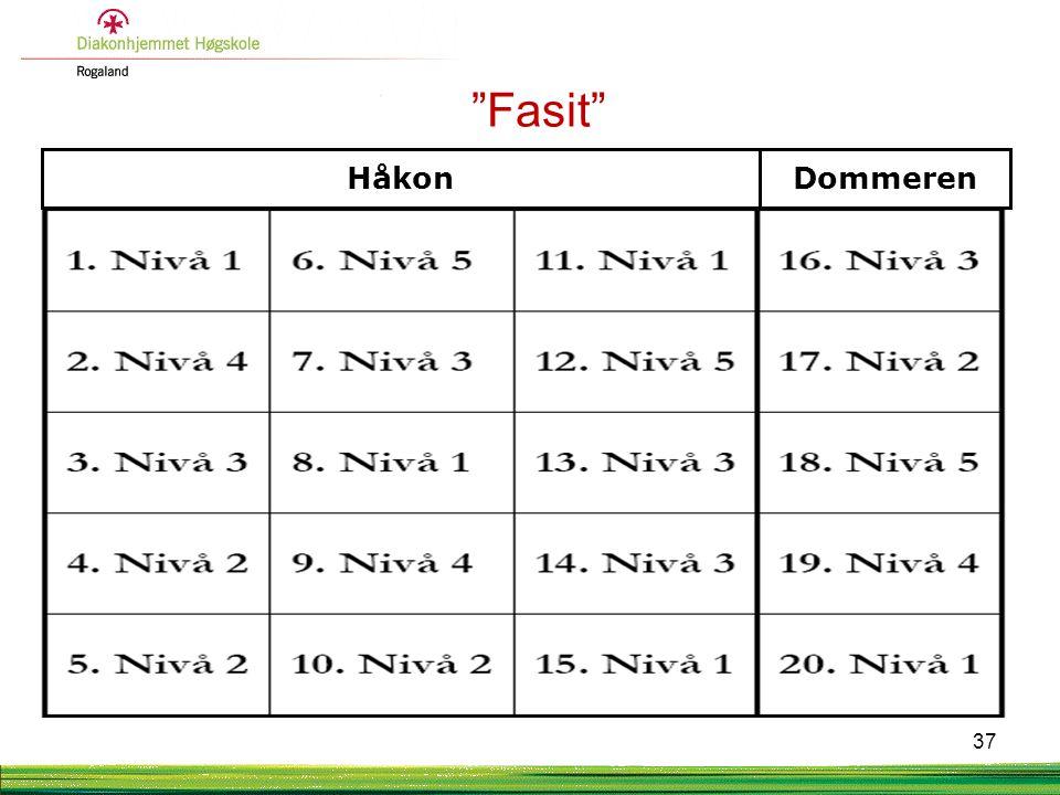 """HåkonDommeren """"Fasit"""" 37"""