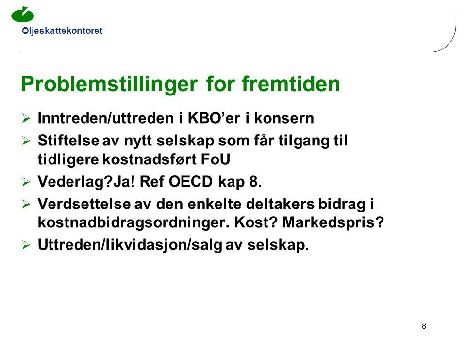 Oljeskattekontoret 9 2 Fordelingsnøkkel Capex/Opex Opex + Capex are generally linked to size of organisation.