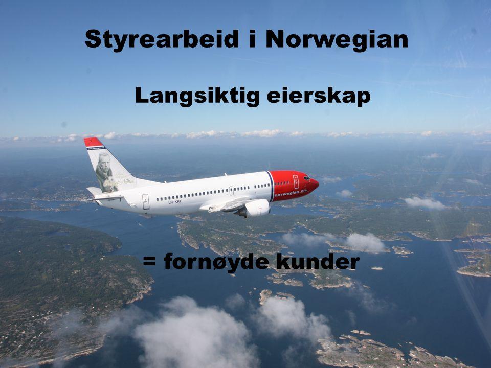 Styrearbeid i Norwegian Langsiktig eierskap = fornøyde kunder