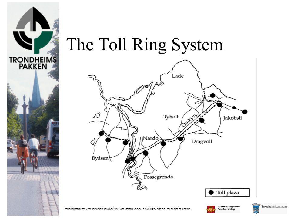 Trondheimspakken er et samarbeidsprosjekt mellom Statens vegvesen Sør-Trøndelag og Trondheim kommune The Toll Ring System