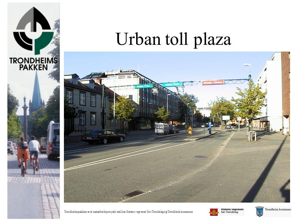 Trondheimspakken er et samarbeidsprosjekt mellom Statens vegvesen Sør-Trøndelag og Trondheim kommune Urban toll plaza
