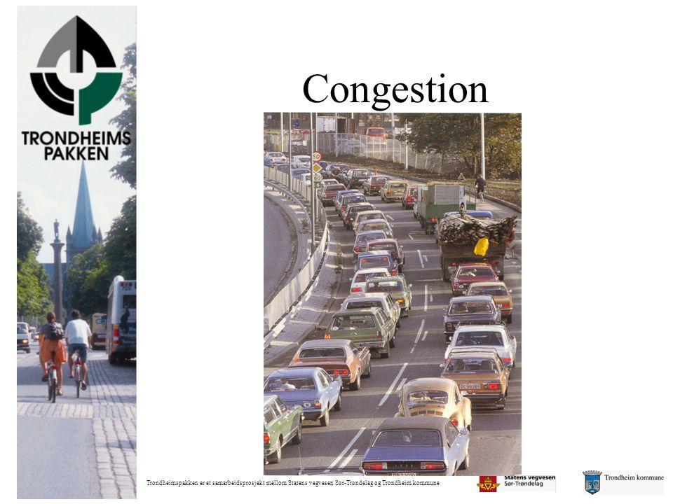 Trondheimspakken er et samarbeidsprosjekt mellom Statens vegvesen Sør-Trøndelag og Trondheim kommune Congestion