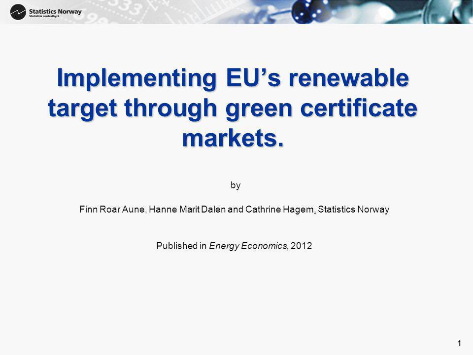 2 Bakgrunn • EU's Climate and Energy Package: –20 % reduksjon i klimagassutslipp –Fornybar mål på 20 %.