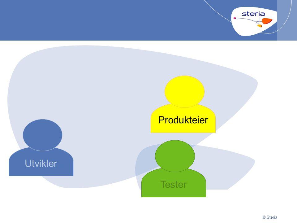 © Steria | 29/06/2014Presentation titlep15 © Steria Utvikler Produkteier Tester