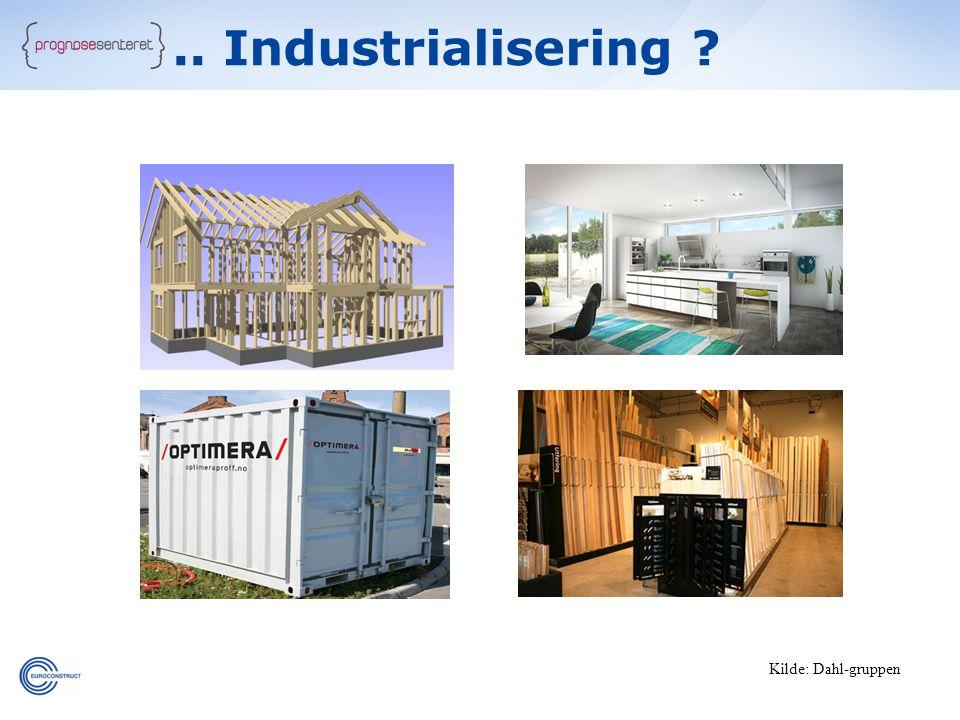 35 Kilde: Dahl-gruppen.. Industrialisering ?