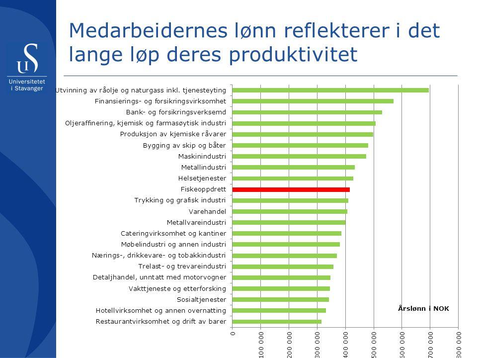 Medarbeidernes lønn reflekterer i det lange løp deres produktivitet