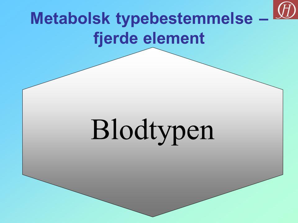 Blodtypen Metabolsk typebestemmelse – fjerde element