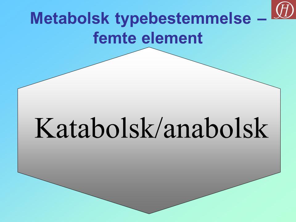 Katabolsk/anabolsk Metabolsk typebestemmelse – femte element