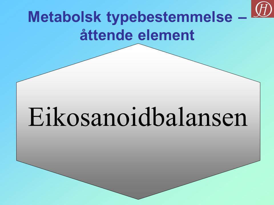 Eikosanoidbalansen Metabolsk typebestemmelse – åttende element