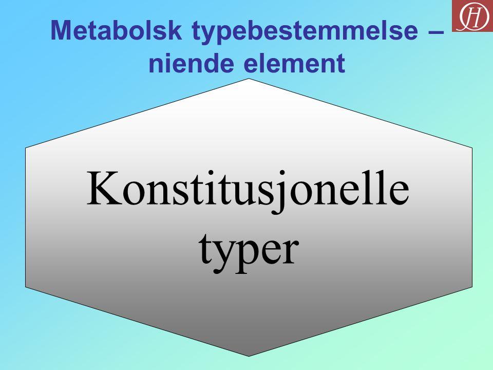 Konstitusjonelle typer Metabolsk typebestemmelse – niende element