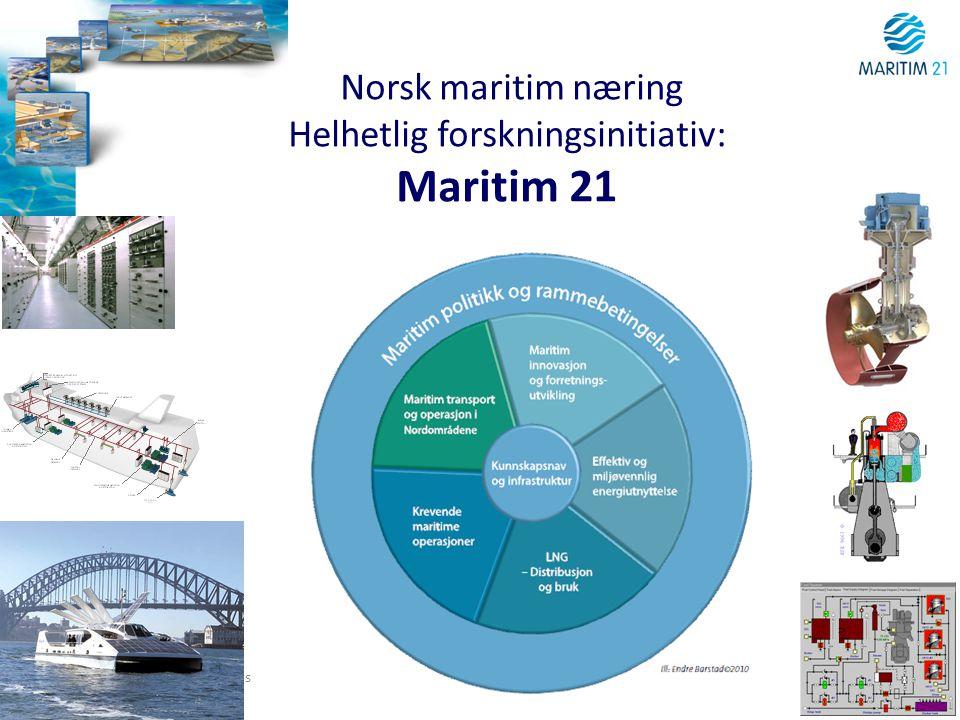 w ww.ntnu.no NTNU Figures and facts Norsk maritim næring Helhetlig forskningsinitiativ: Maritim 21