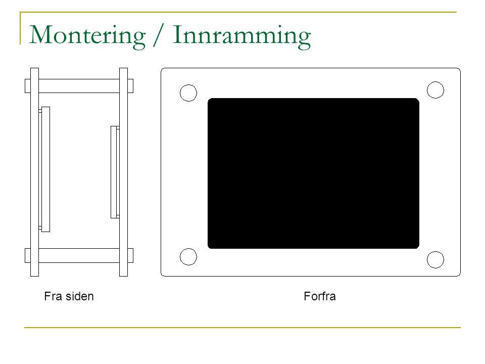 Montering / Innramming Fra sidenForfra
